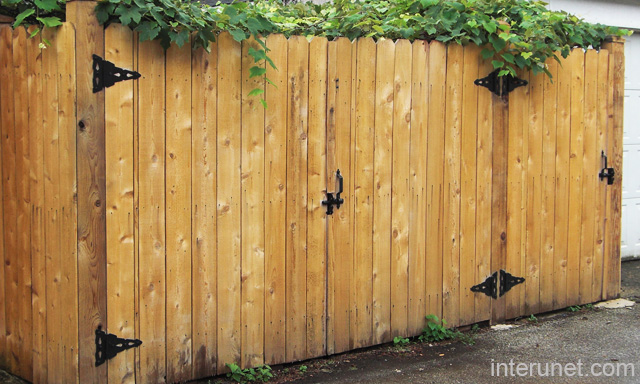 Simple wood gates fence picture interunet