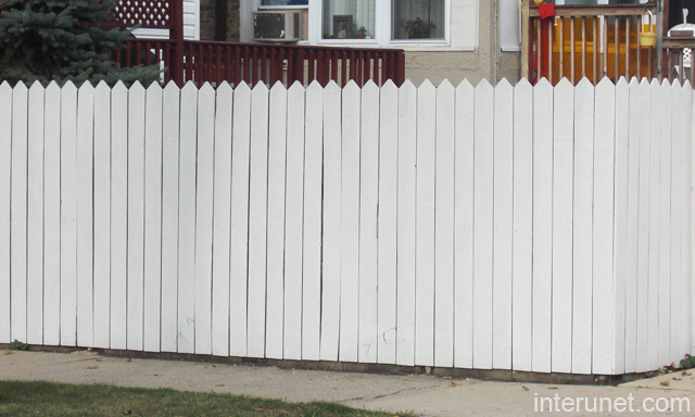 White Wood Fencing